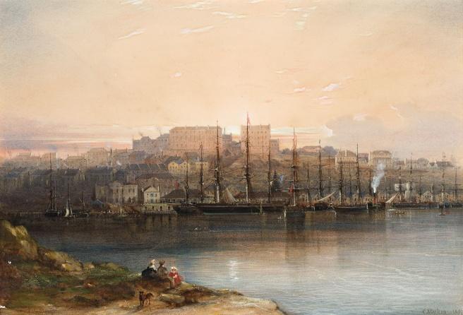 Conrad_Martens_-_Campbells_Wharf,_1857